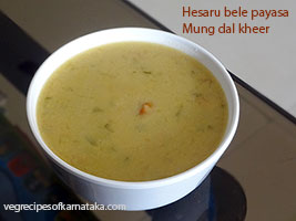 hesaru bele payasa recipe