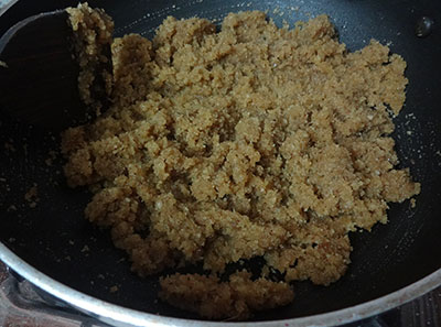 coconut and jaggery for wheat flour kayi holige or kayi obbattu