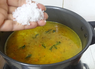 salt for hunase thokku saaru or rasam