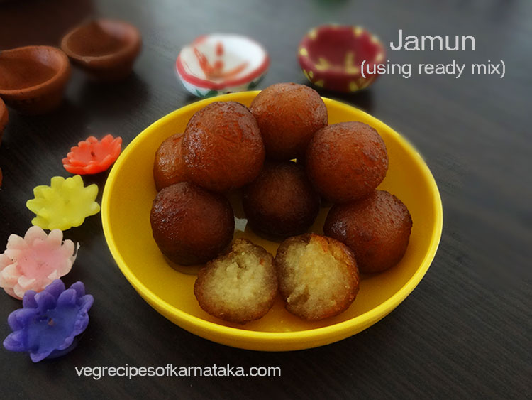 gulab jamun recipe using ready mix or instant mix