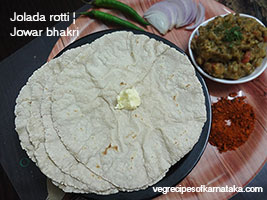 jolada rotti recipe, how to make jowar bhakri