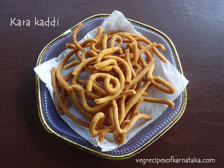 kara kaddi or khara sev recipe