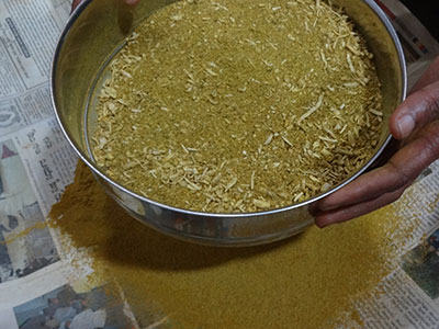 sieving kashaya powder or kashaya pudi