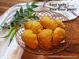 kayi vade or rice poori recipe