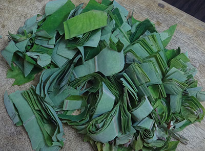 colocasia leaves for kesuvina ele chutney or taro leaves chutney