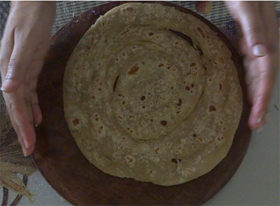 flap the layered paratha