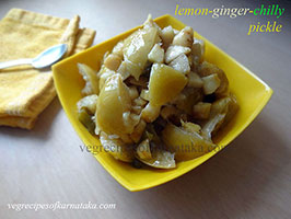 Lemon ginger green chilli pickle