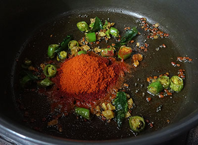 red chili powder for lemon pickle or nimbe hannu uppinakayi