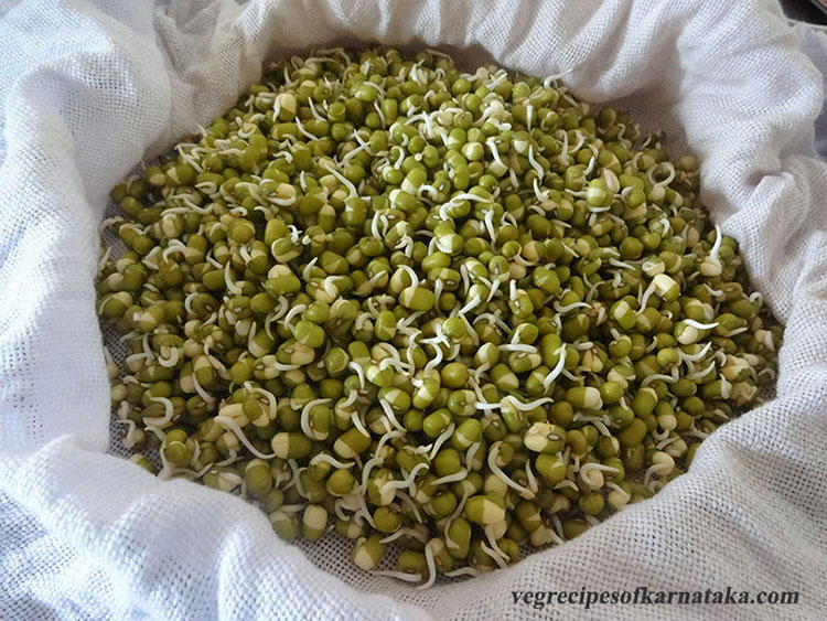 how to make green gram sprouts or mung sprouts