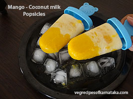 mango coconut milk popsicle or ice candy