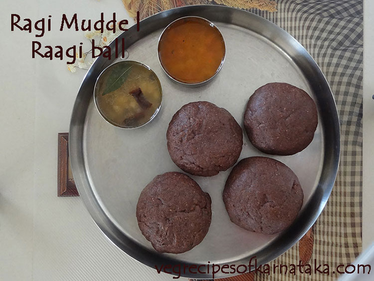 ragi mudde or raagi ball recipe
