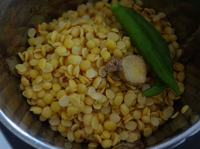 grind toor dal for matvadi palya or matawadi or matodi