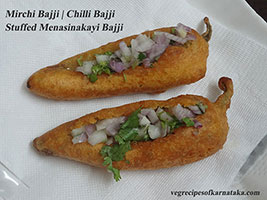 davangere stuffed mirchi bajji recipe