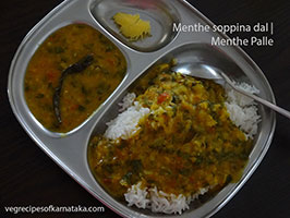 menthe palle or methi dal