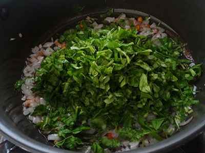 fenugreek leaves for menthe soppu rice bath or methi rice