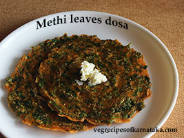 menthe soppina dose or methi leaves dosa recipe