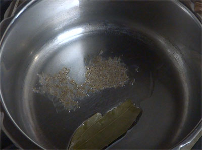 tempering for methi pulao or menthe soppina pulav