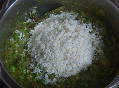 rice for methi pulao or menthe soppina pulav