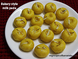 bakery style milk peda recipe