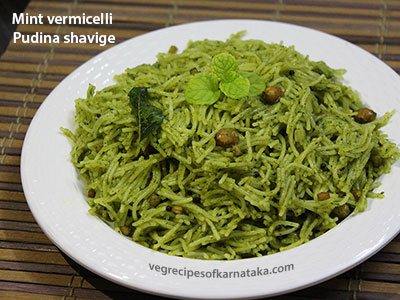 Pudina shavige or mint vermicelli recipe