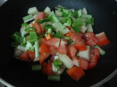 add mixed vegetables for karnataka mixed vegetable curry