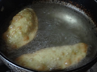 deep frying karigadubu