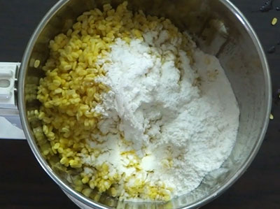 rice flour for mung dal dosa or hesaru bele dose