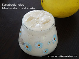 kharbuja or muskmelon milkshake recipe