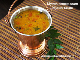 mysore tomato saaru or rasam recipe