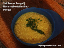 millets or siridhanya pongal recipe