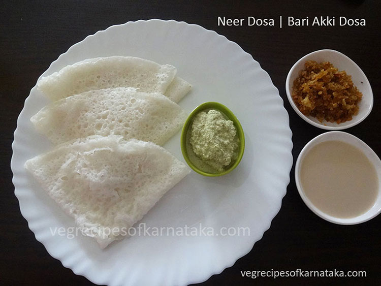 Neer dosa recipe or neer dose recipe