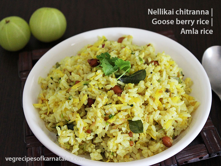 nellikai chitranna or amla rice