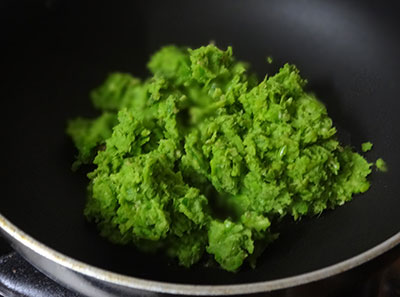 ground green peas for green peas paratha or matar parata