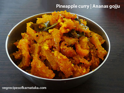 pineapple curry or ananas gojju recipe