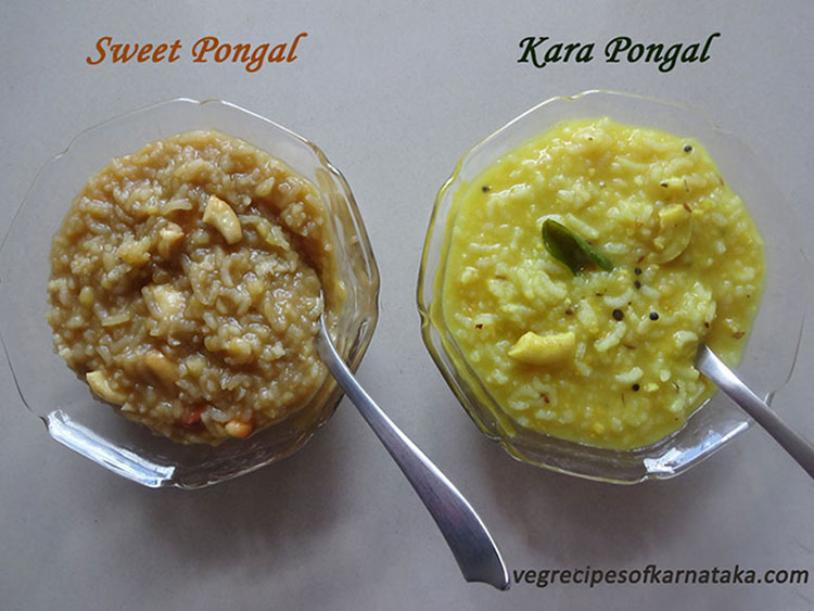 karnataka style khara and sweet pongal recipe