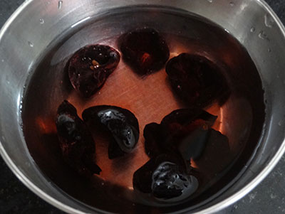 soaking kokum for punarpuli saaru or kokum rasam recipe