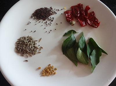 tempering ingredients for punarpuli saaru or kokum rasam recipe
