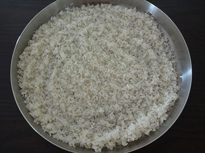 rinsed rice for unde kadubu or pundi gatti