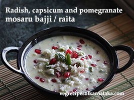 radish and capsicum raita recipe