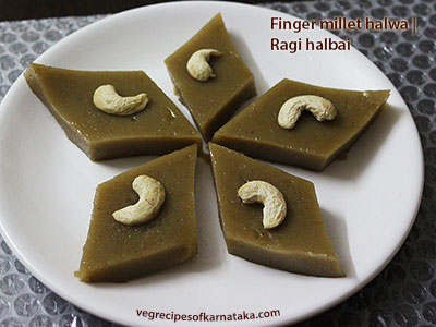 ragi halbai or raagi halubai recipe