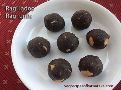 ragi laddu recipe or ragi unde recipe