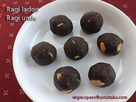 ragi laddu or unde recipe