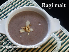ragi malt recipe or ragi health drink