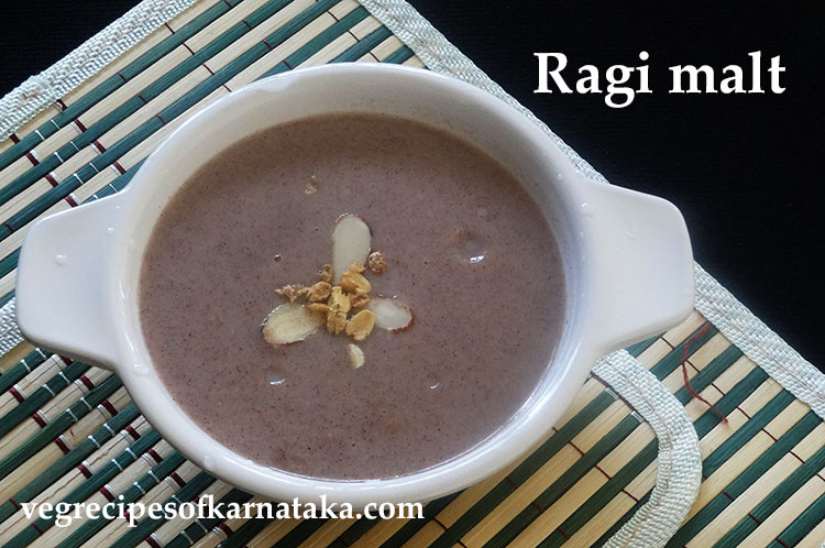 ragi malt recipe or ragi drink