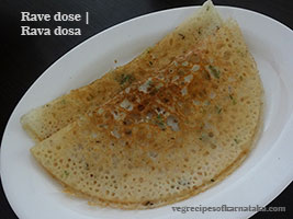 Rava dosa or rave dose recipe