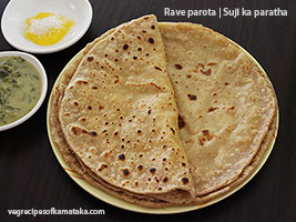 Rave parota or rava paratha recipe