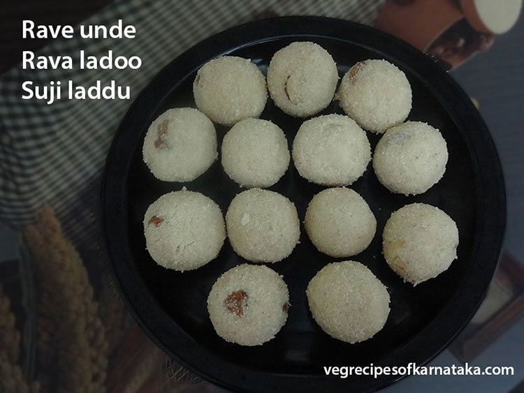 Rave unde or rava ladoo recipe
