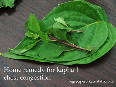 betel leaf home remedy for chest congestion