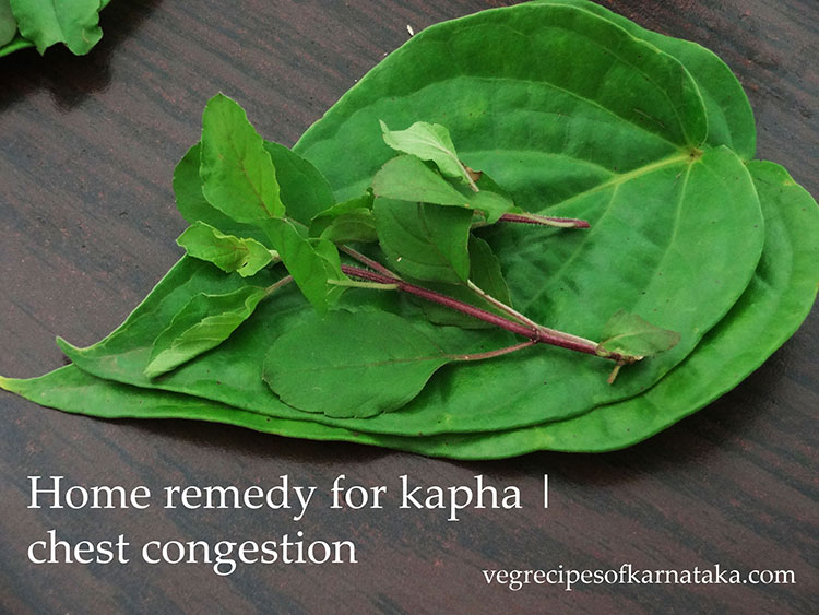 home remedy for chest congestion, remedy for kapha in kids