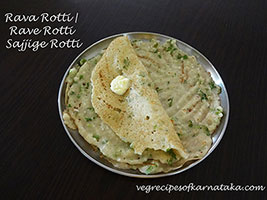 rava or semolina rotti recipe